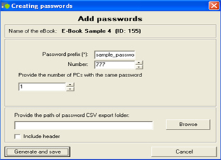 Add new passwords
