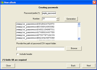 Creating Password
